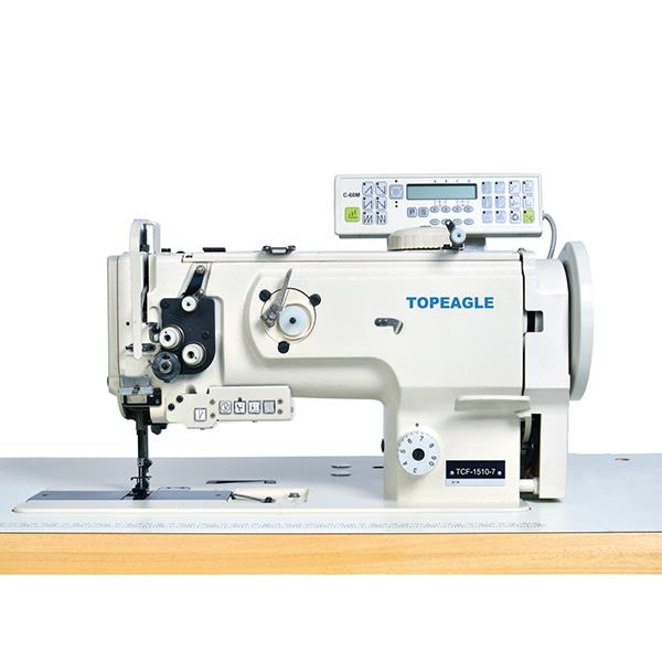 TCF-1560 Double Needle Compound Feed Lockstitch Sewing Machine with Large Horizontal Hook