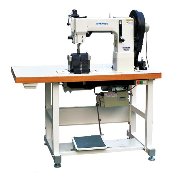 TPB-204-370H Post Bed Single / Double Needle Drop Feed, Walking Foot Needle Feed Lockstitch Sewing Machine