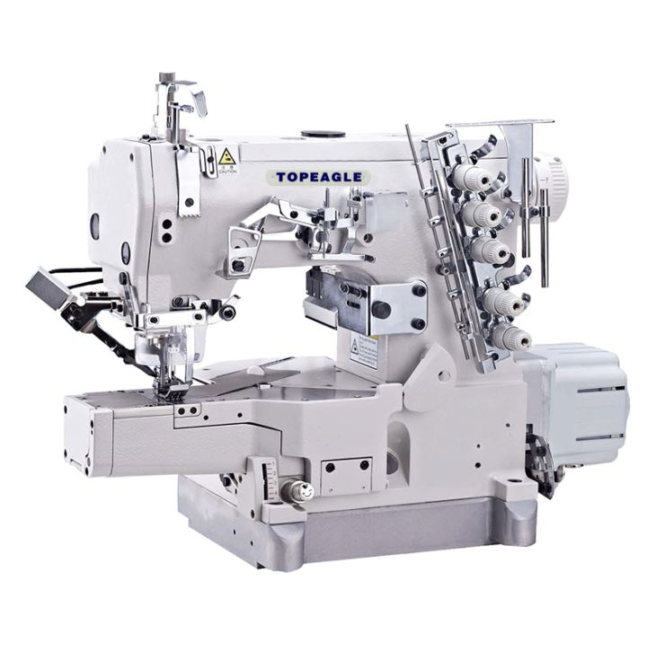 TK-6601 Direct Drive Top Feed Cylinder Bed Interlock Machine With Pneumatic Thread Cutter
