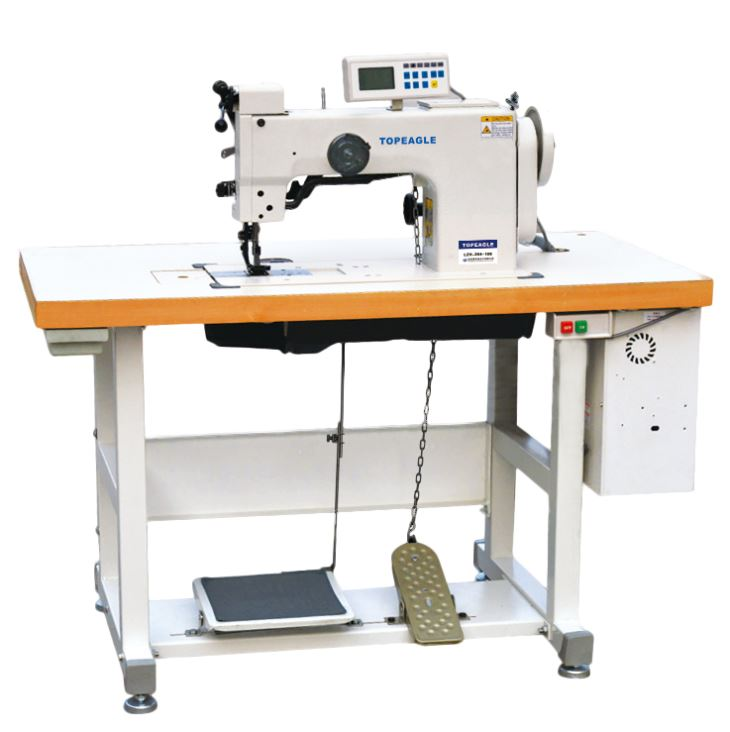 TCF-550-2046 Flat Bed Single Needle Walking Foot Computer Controlled Ornamental Stitching Machine
