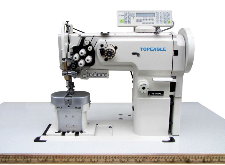 TPB-1760XL Double Needle Compound Feed Extra Thick Thread Post-bed Sewing Machine With Extra Large Hook