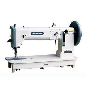TCF-243/246 Flat Bed Compound Feed Semi-Long / Long Arm Extra Heavy Duty Lock Stitch Sewing Machine