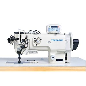 TCF-1565N Flat Bed, Double Needle, Walking Foot, Needle Feed, Large Horizontal Hook Lockstitch Sewin