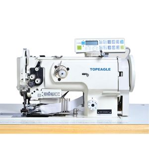 TCF-1510-AE Flat Bed, Single Needle,Compound Feed, Large Horizontal Hook Lockstitch Sewing Machine with Side Cutter and Binding