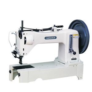 TWF-733 Single Needle, Drop Feed and Walking Foot, Extra Heavy Duty, High Foot Lift, Large Shuttle Hook, Reverse Stitch, Lockstitch Sewing Machine.