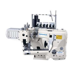 TF-6200D(-7) Direct Drive Feed-Off-The-Arm 4 Needle 6 Thread Flat Seam Sewing Machine