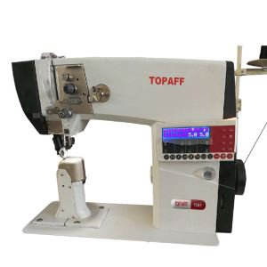 1590/1570 Single / Double Needle High-Speed Post-Bed Roller Feed Sewing Machine With Auto Thread Trimmer
